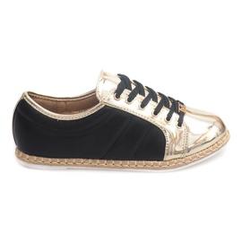 Leinen Sneakers Espadrilles Q52 Schwarz