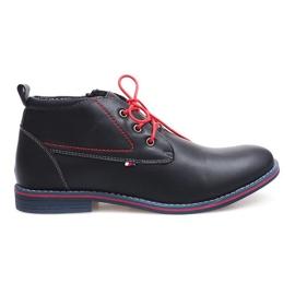 Hochisolierte gebundene Schuhe 86105 Navy marine
