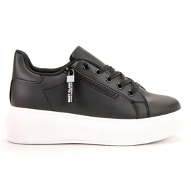 SHELOVET schwarz Geschnürte Schuhe Auf Der Plattform