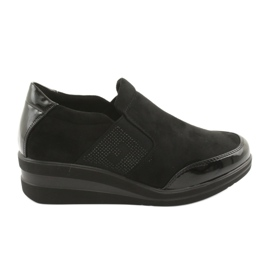 Schwarze Schuhe am Keil Sergio Leone 225