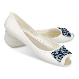 Ballerinas Mit Offenen Zehen Sandalen 092D Weiß