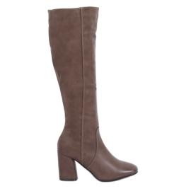 Braun Klassische beige High Heels 5319 Khaki