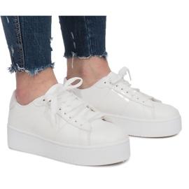 Weiße Plateau-Sneakers Livet De Lux