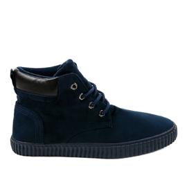 Marine Dunkelblaue isolierte Herren Sneakers AN06