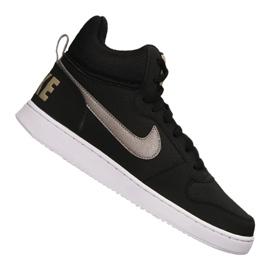 Schwarz Nike Court Borough Mid M 838938-005 Schuhe