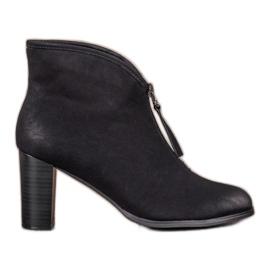 Schwarz Stiefel mit Schieber VINCEZA