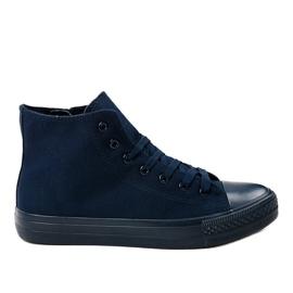 Gemre marine Dunkelblaue Herren High Sneakers XN50