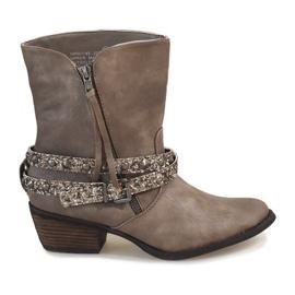 Grau Beige Cowboystiefel Stiefel NRW1745-277