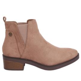 Braun Beige Jodhpur Stiefel beige 8B978 Khaki
