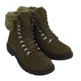 Grün Damen Trapper Schuhe Y260-9 Grün