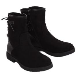 Schwarz Isolierte Stiefel 8122 Schwarz