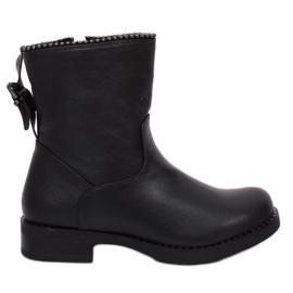 Militärische schwarze Stiefel JY705 Schwarz
