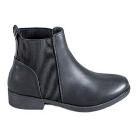 Abloom schwarz Slip On Damen Stiefel