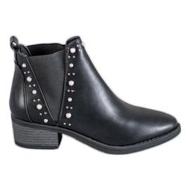 Coco Perla schwarz Stiefel mit Perlen