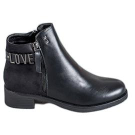 Ideal Shoes Schwarze Stiefeletten