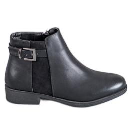 Abloom schwarz Stiefel auf flache Ferse