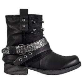 Bestelle schwarz Biker-Stiefel