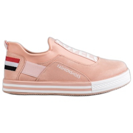 SHELOVET pink Slip Lovelo Sneakers