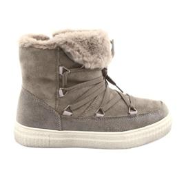 American Club braun Taupe Eskimo Stiefel