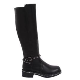 Schwarze Stiefel für Frauen schwarz 0-263 Schwarz