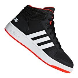 Schwarz Adidas Hoops Mid 2.0 K Jr. B75743 Schuhe