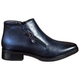 Daszyński Niedrige dunkelblaue Stiefel