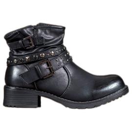 Evento schwarz Rock Stiefel Damen