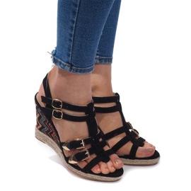Sandalen mit Keilabsatz 5H5671 Schwarz