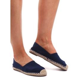 Espadrilles F169-6 Blaue Sandalen
