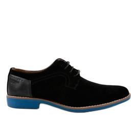 Schwarze elegante Schuhe H-32