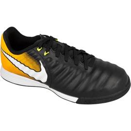 Nike TiempoX Ligera Iv Ic Jr 897730-008 Fußballschuhe schwarz schwarz, gelb