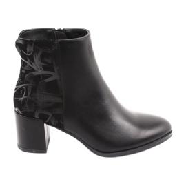 Stylische Stiefel auf dem Pfosten schwarz Sergio Leone 521