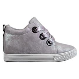 New Tlck Schuhe mit einem Band gebunden grau