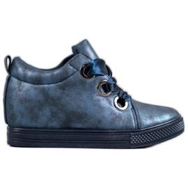 New Tlck Schuhe mit einem Band gebunden blau