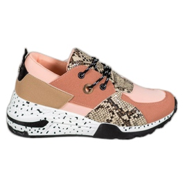Snake Print VICES Turnschuhe pink