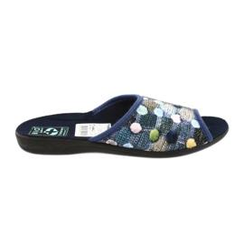 Hausschuhe Flip Flops 3D Adanex Marineblau
