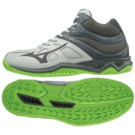 Mizuno Thunder Blade 2 Mid M V1GA197537 Schuhe grau / silber grau