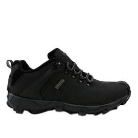 Schwarze Trekkingschuhe MXC-6645