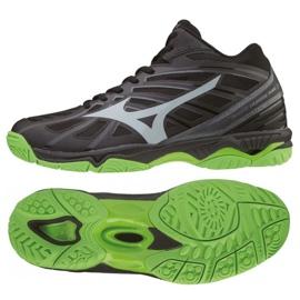 Mizuno Wave Hurricane 3 Mid M V1GA174537 Schuhe schwarz schwarz