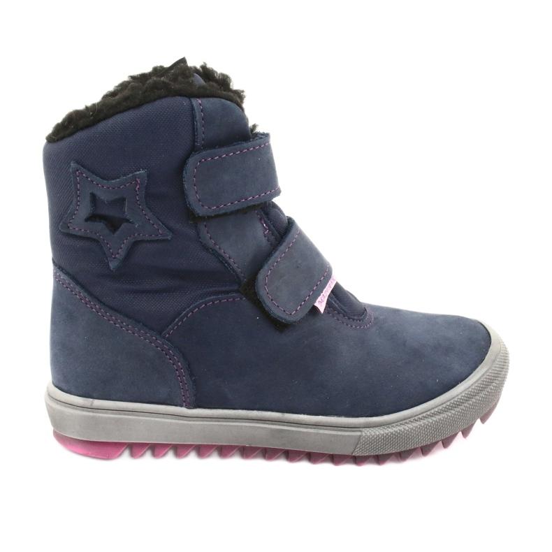 Stiefel mit einer Membran Mazurek 1353 Marineblau