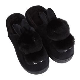 Black MA01 Schwarze Damenhausschuhe