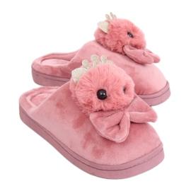 Schmutzige rosa Frauen Hausschuhe DD112 Pink