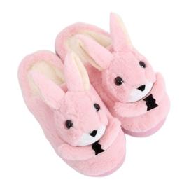 Hasen Frauen Hausschuhe hellrosa MA17 Pink