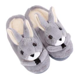 Grey Slippers Hasen MA17 Grau