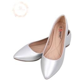 Mandel Silber Ballerinas Zehen CD52P Silber grau