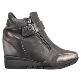 Sergio Leone Sneakers am Reißverschluss grau