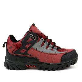 Rote Trekkingschuhe für Damen W317