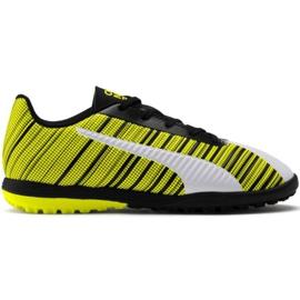 Puma Fußballschuhe One 5.4 Tt Jr 105 662 03 weiß, schwarz, gelb gelb