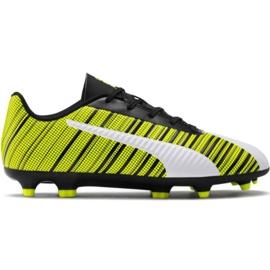 Puma One 5.4 Fg Ag Jr 105660 03 Fußballschuhe weiß, schwarz, gelb gelb