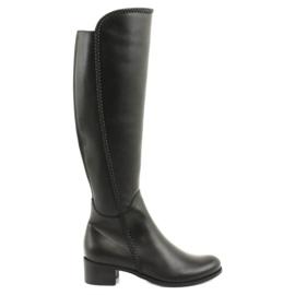 Lange Stiefel mit einem Geflecht Espinto 194 Darex schwarz